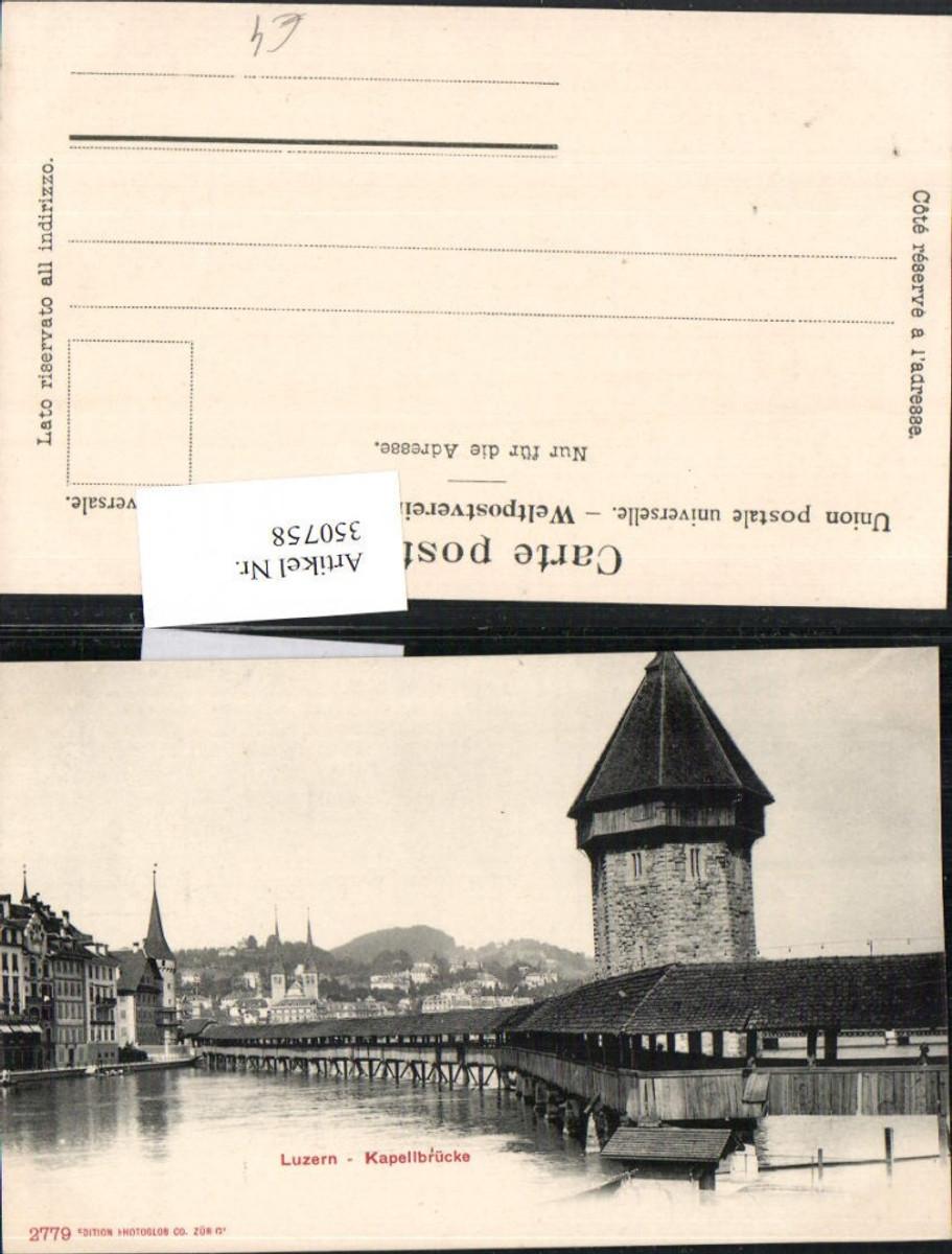 350758,Luzern Kapellbrücke Brücke Wasserturm Turm günstig online kaufen