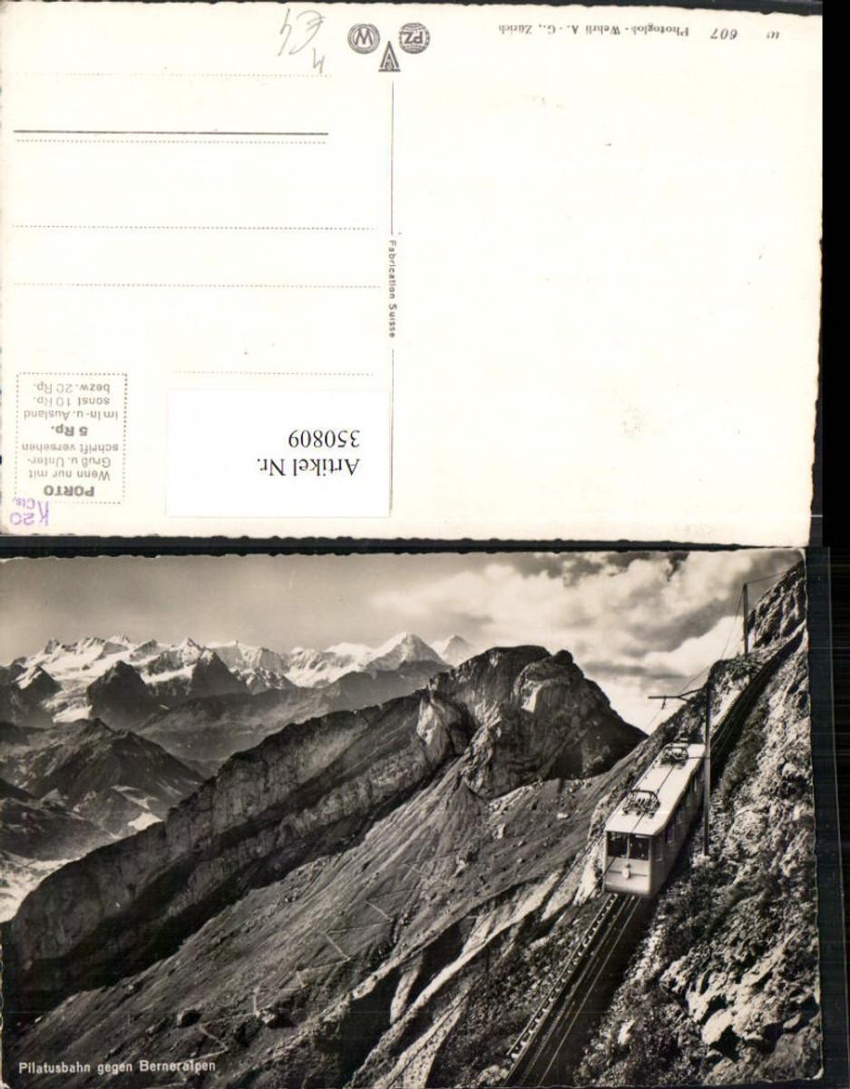 350809,Pilatusbahn Zahnradbahn b. Alpnach geg. Berneralpen Bergkulisse Kt Obwalden günstig online kaufen