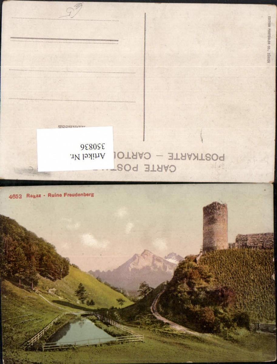 350836,Ragaz Ruine Freudenberg Bergkulisse Kt St Gallen günstig online kaufen