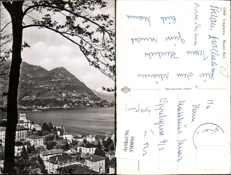 350894,Lugano Teilansicht m. Monte Bre Kt Tessin günstig online kaufen