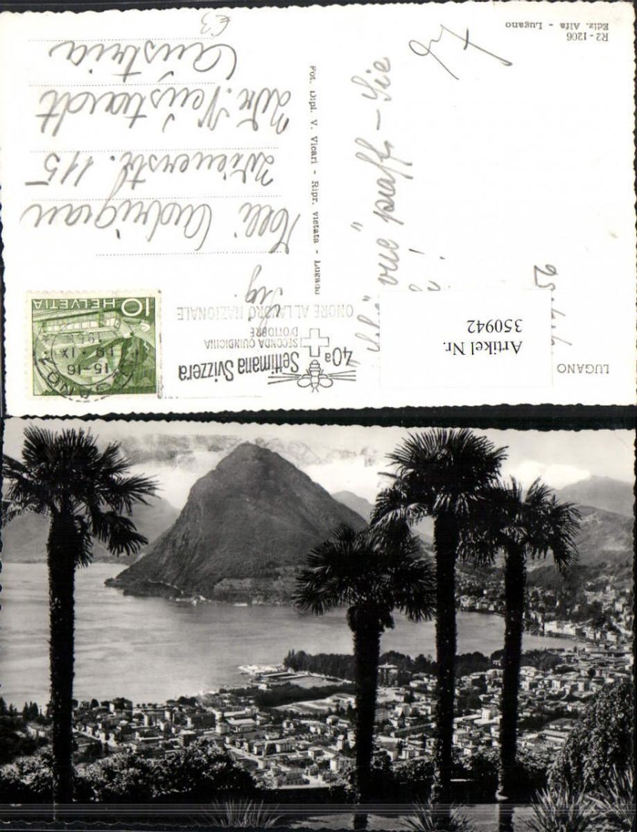350942,Lugano Totale Bergkulisse Palmen Kt Tessin günstig online kaufen