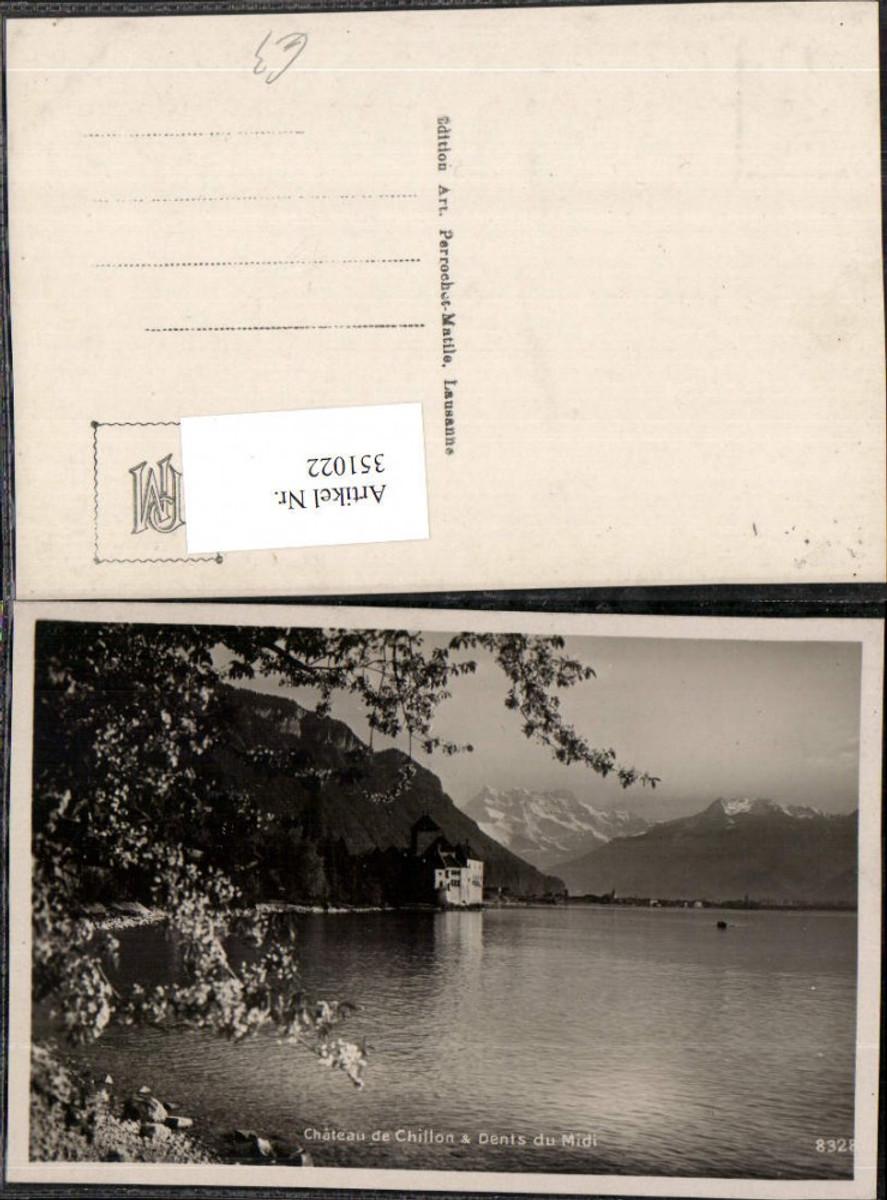 351022,Veytaux Chateau de Chillon et les Dents du Midi Schloss Bergkulisse Kt Waadt günstig online kaufen