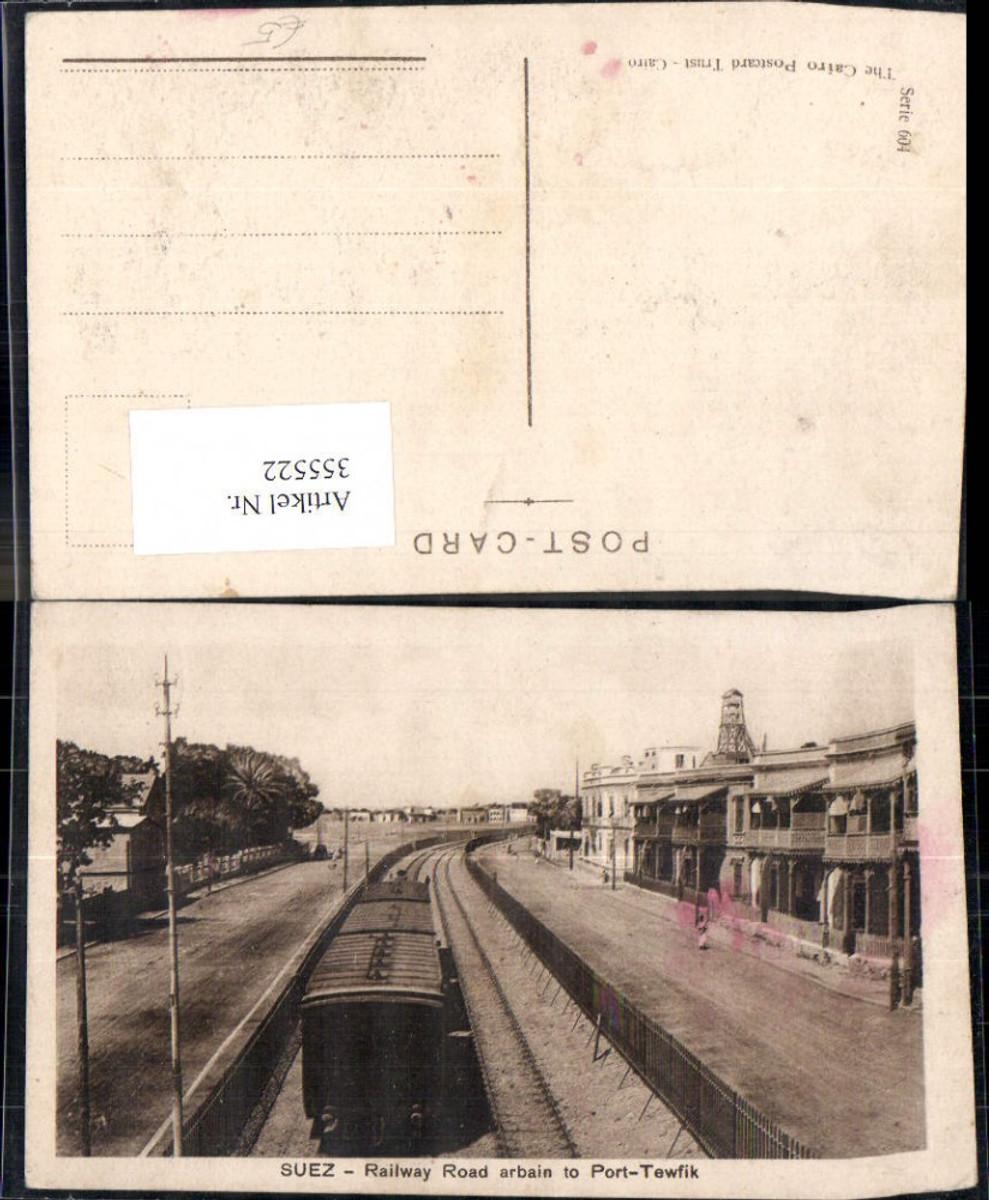 355522,Lokomotiven Suez Railway Road arbain to Port-Tewfik Eisenbahn  günstig online kaufen