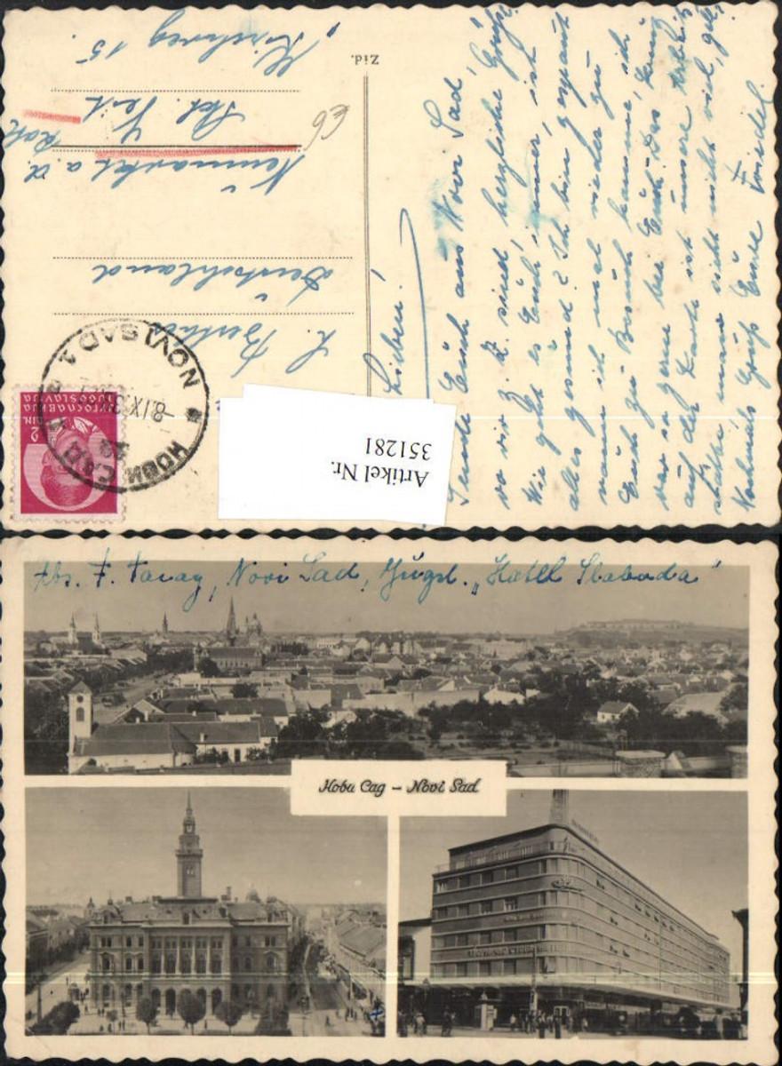 351281,Novi Sad Hobu Cag Totale Rathaus Gebäude Mehrbildkarte günstig online kaufen