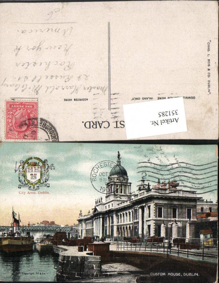 351285,Dublin Custom House Gebäude Dampfer günstig online kaufen