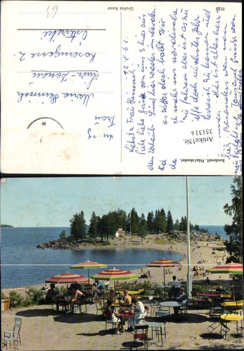 351316,Sundsvall Fläsiabadet Strand Terrasse günstig online kaufen