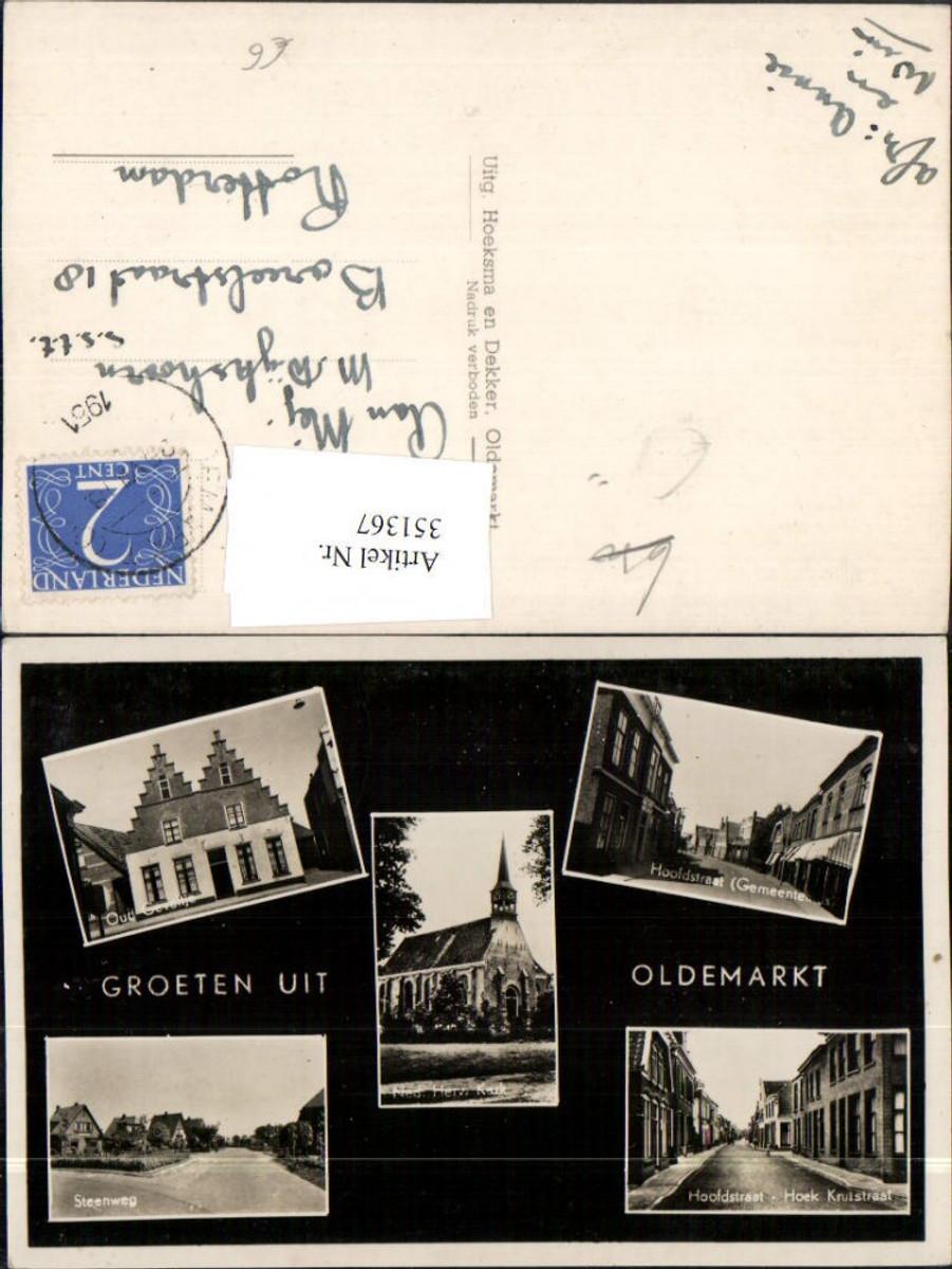 351367,Oldemarkt Hoofdstraat Steenweg Kerk Kirche Mehrbildkarte günstig online kaufen