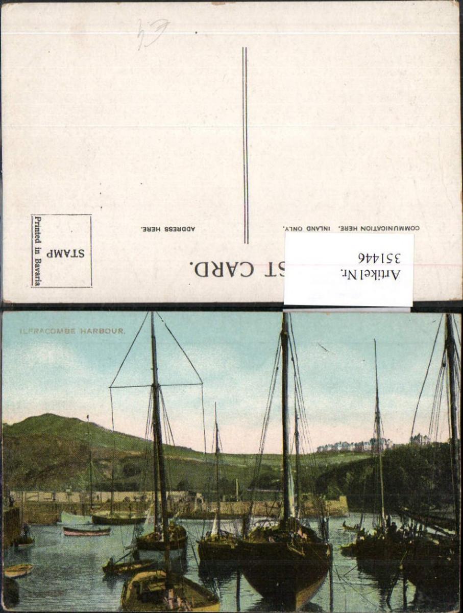 351446,Ilfracombe Harbour Hafen Segelschiffe Boote günstig online kaufen