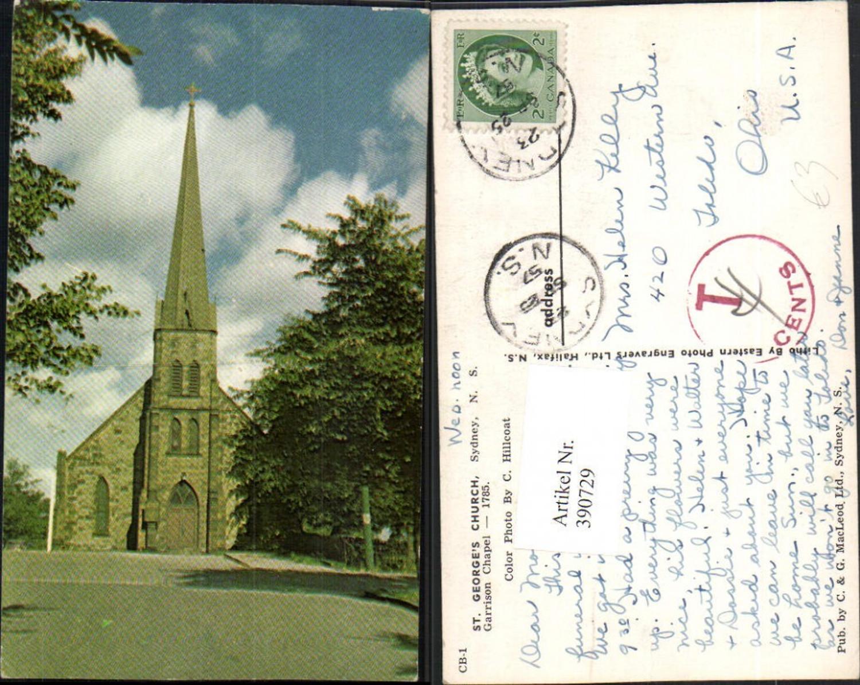 390729,Canada Nova Scotia Sydney St. Georges Church Garrison Chapel Kirche Kapelle günstig online kaufen