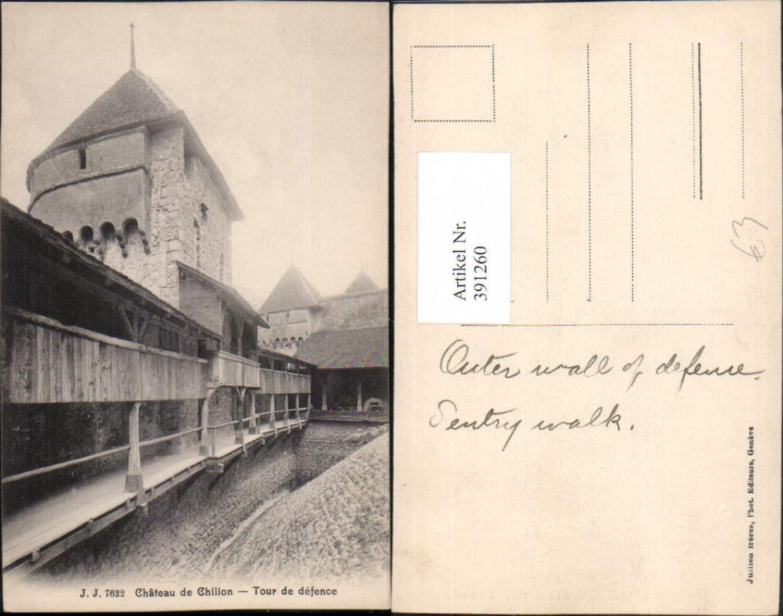 391260,Chateau de Chillon Schloss b. Veytaux Tour de defence Wehrturm Kt Waadt günstig online kaufen