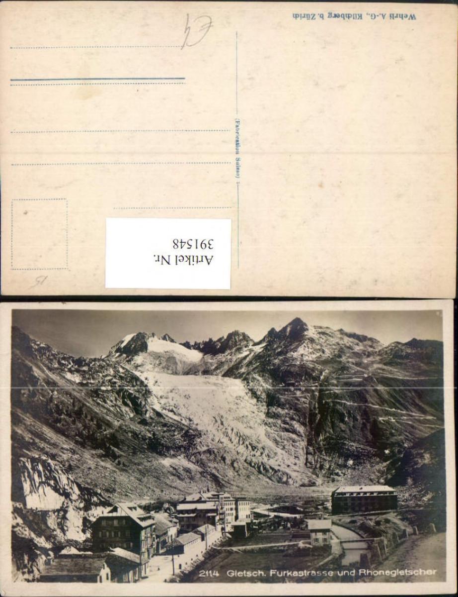 391548,Gletsch Furkastraße u. Rhonegletscher Bergkulisse Kt Wallis günstig online kaufen
