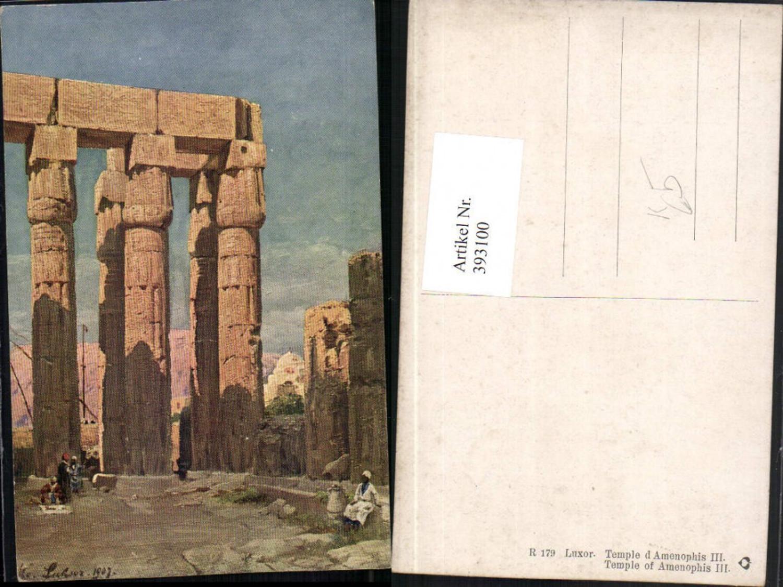 393100,Künstler AK Egypt Luxor Temple of Amenophis III Tempel günstig online kaufen
