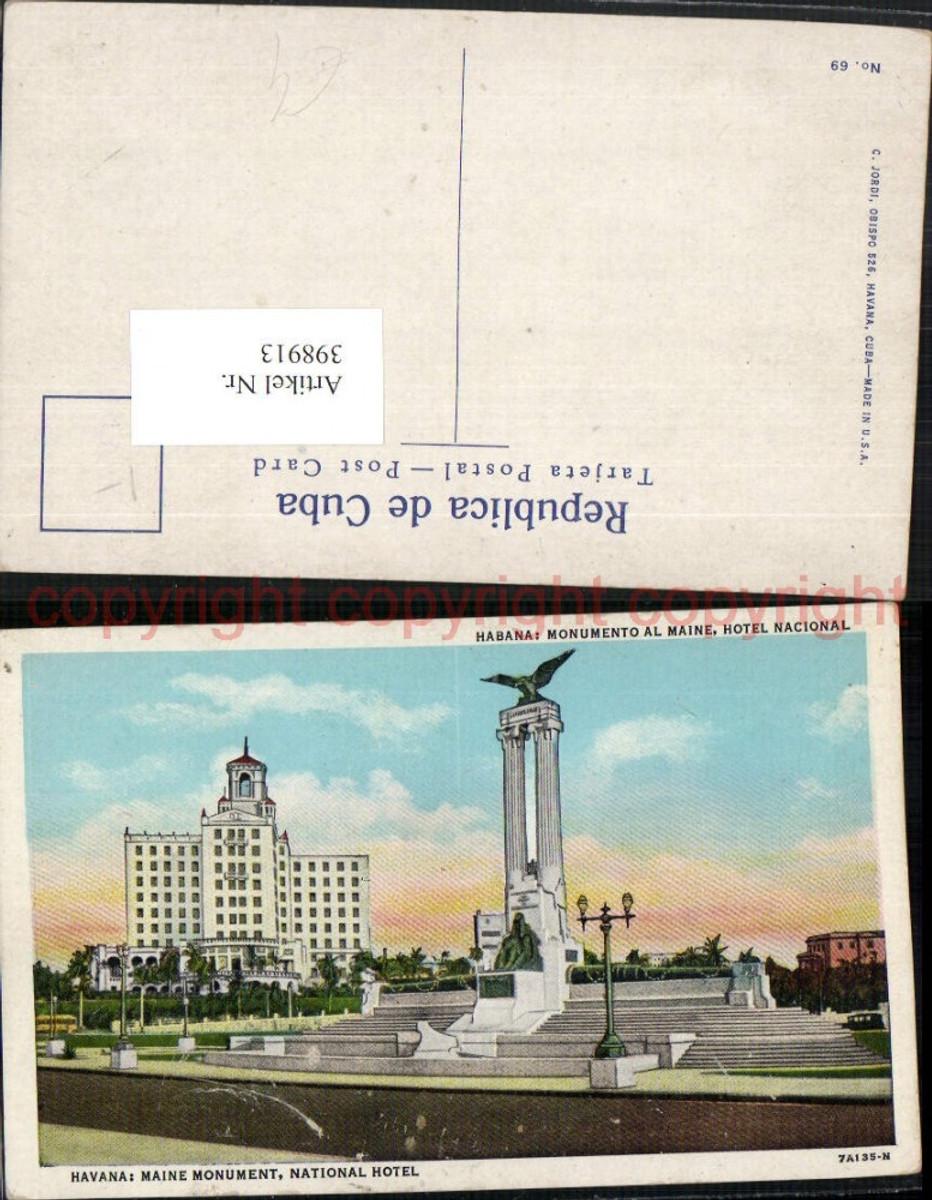398913,Cuba Havana Monumento al Maine Monument Hotel Nacional günstig online kaufen