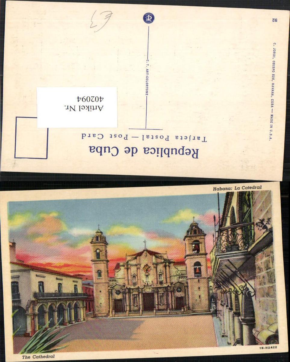 402094,Cuba Habana Havana Cathedral Kirche günstig online kaufen
