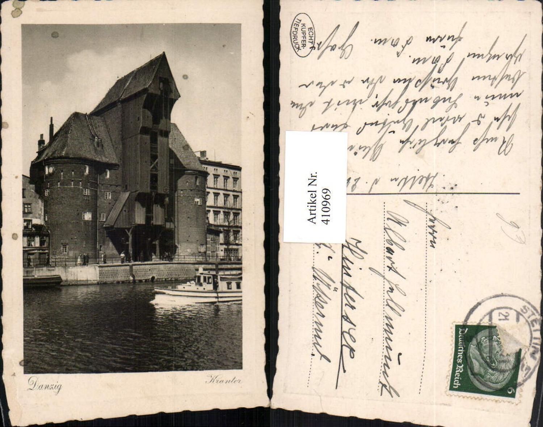 410969,Poland Danzig Krantor Fluss Boot günstig online kaufen