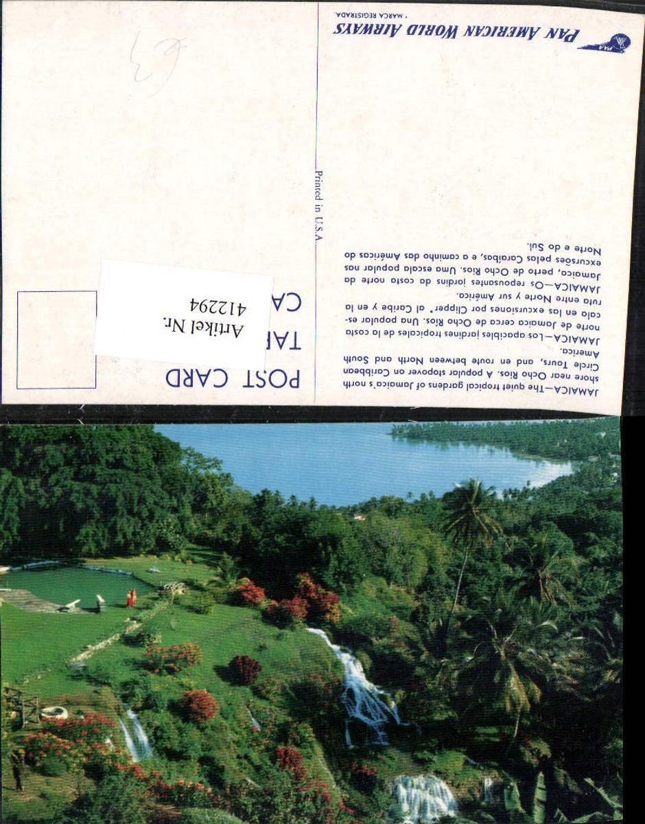 412294,Jamaica Ocho Rios Tropical Gardens Garten Wasserfall günstig online kaufen