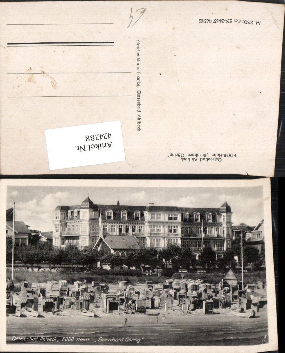 424288,Ostseebad Ahlbeck FDGB-Heim Bernhard Göring Strand Strandleben günstig online kaufen