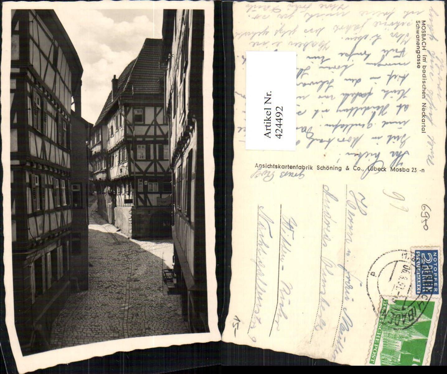 424492,Mosbach im Neckartal Schwanengasse Gasse günstig online kaufen