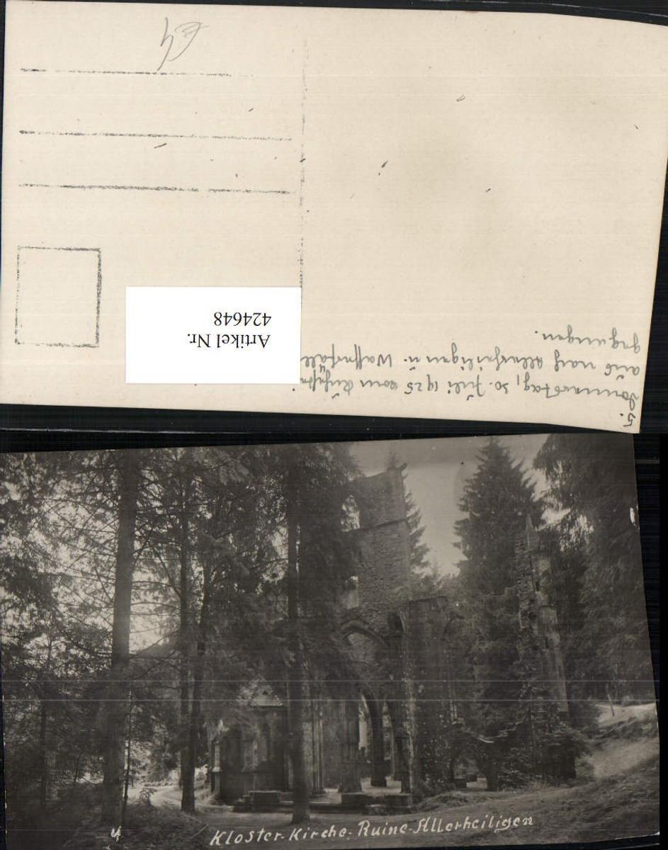 424648,Foto AK Kloster Kirche Ruine Allerheiligen b. Oppenau günstig online kaufen
