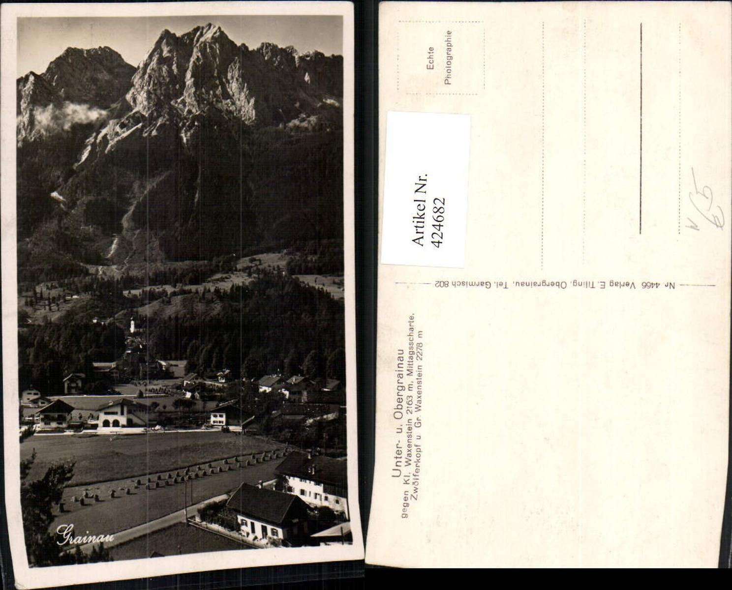 424682,Unter- und Obergrainau Teilansicht geg. Waxenstein Bergkulisse günstig online kaufen