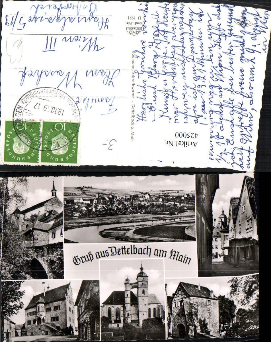 425000,Dettelbach am Main Totale Kirche Rathaus Gasse Mehrbildkarte günstig online kaufen