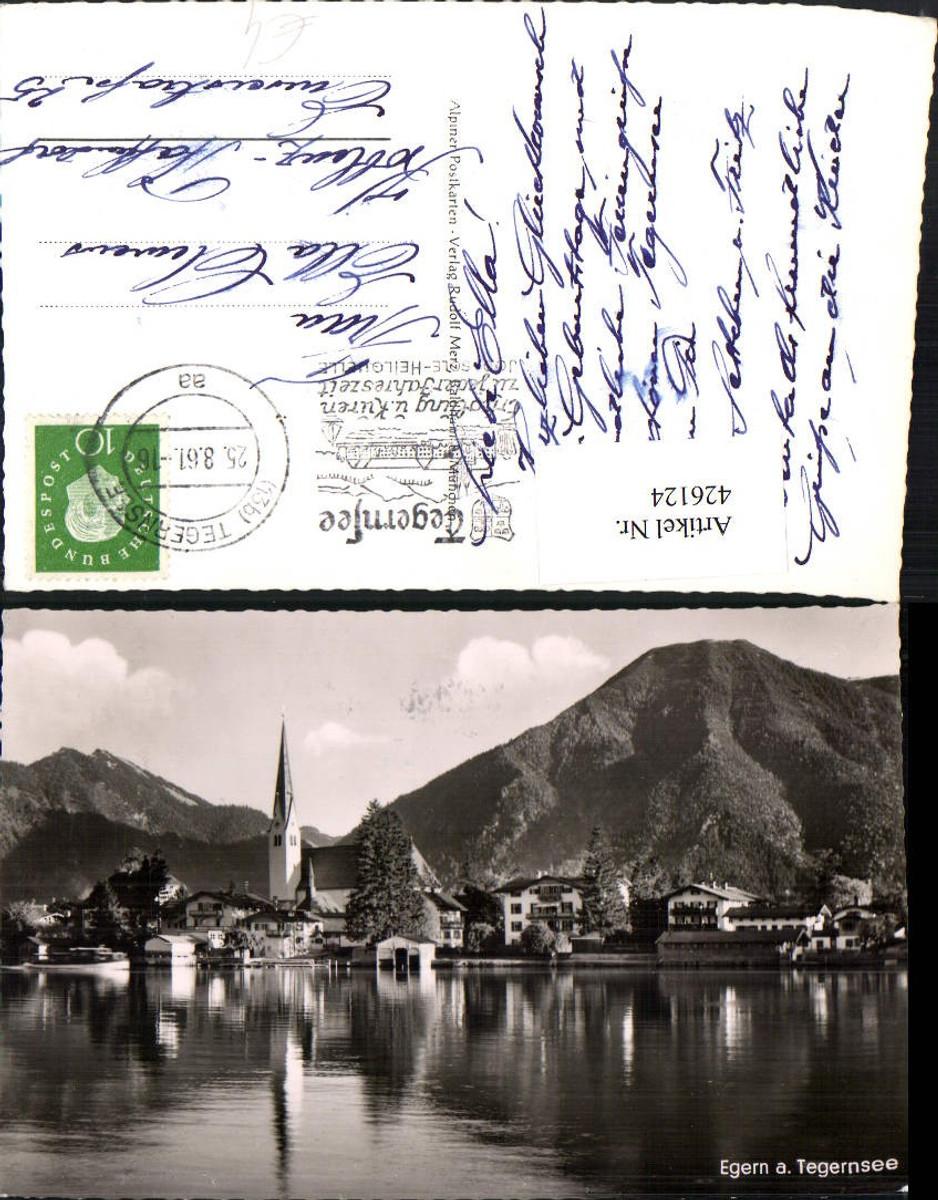 426124,Egern am Tegernsee Totale Kirche Bergkulisse günstig online kaufen