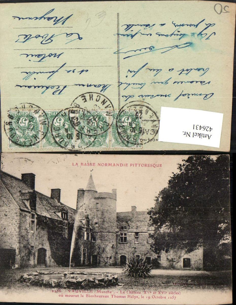 426431,Basse-Normandie Manche Vauville Le Chateau Schloss Brunnen günstig online kaufen