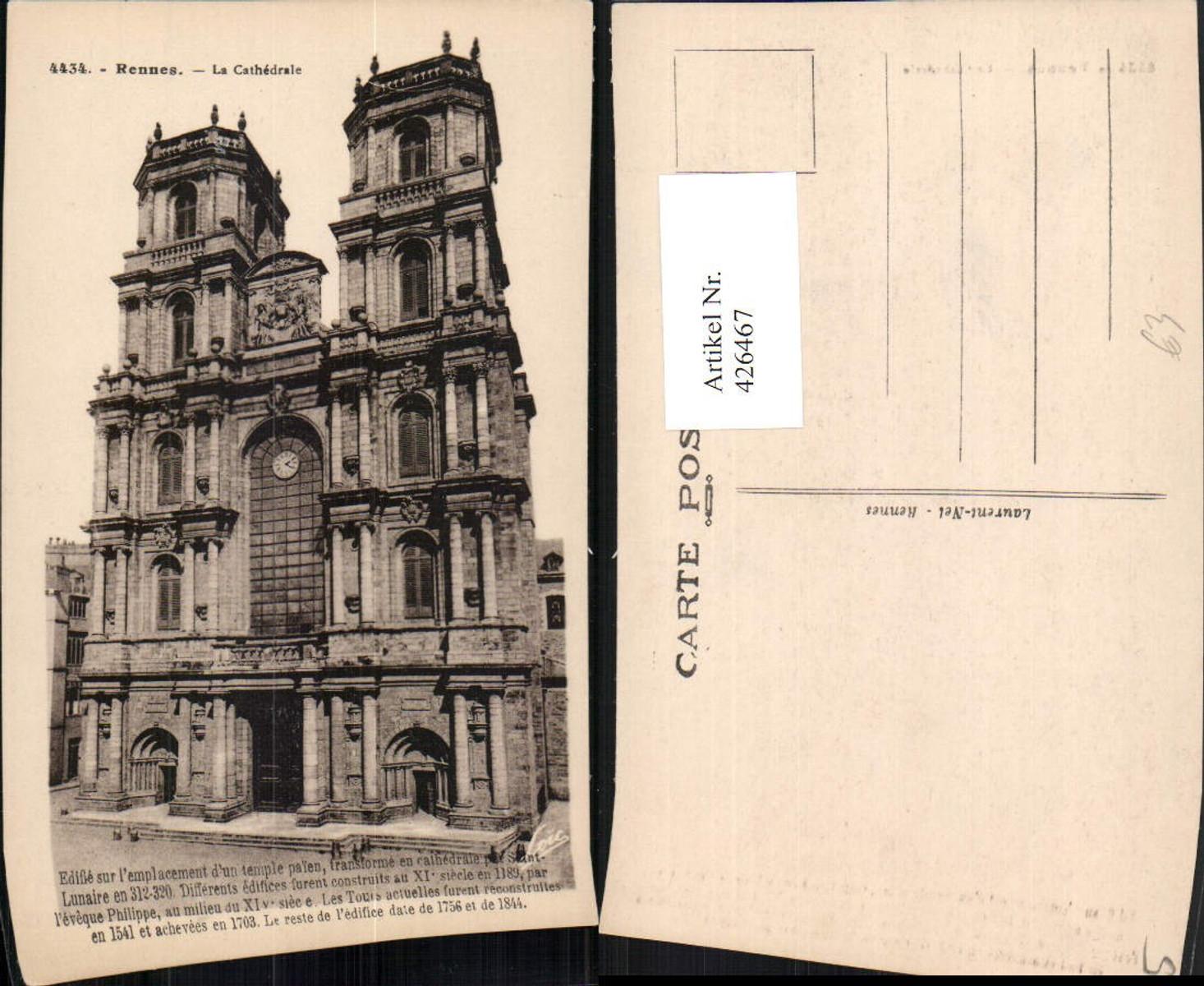 426467,Bretagne Ille-et-Vilaine Rennes La Cathedrale Kirche günstig online kaufen