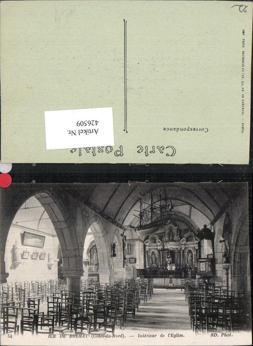 426509,Bretagne Cote-Amor Ile de Brehat Interieur de l'Eglise Kirche günstig online kaufen