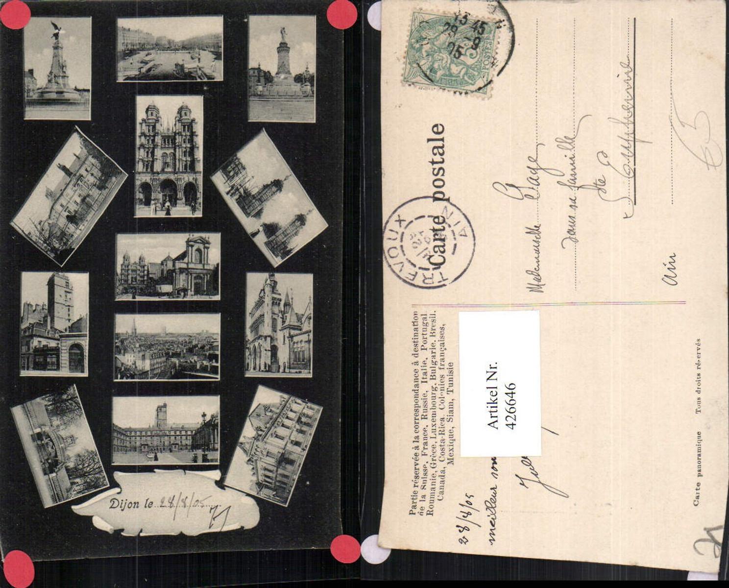 426646,Burgund Cote-Or Dijon Totale Kirche Monumente Gebäude Mehrbildkarte günstig online kaufen