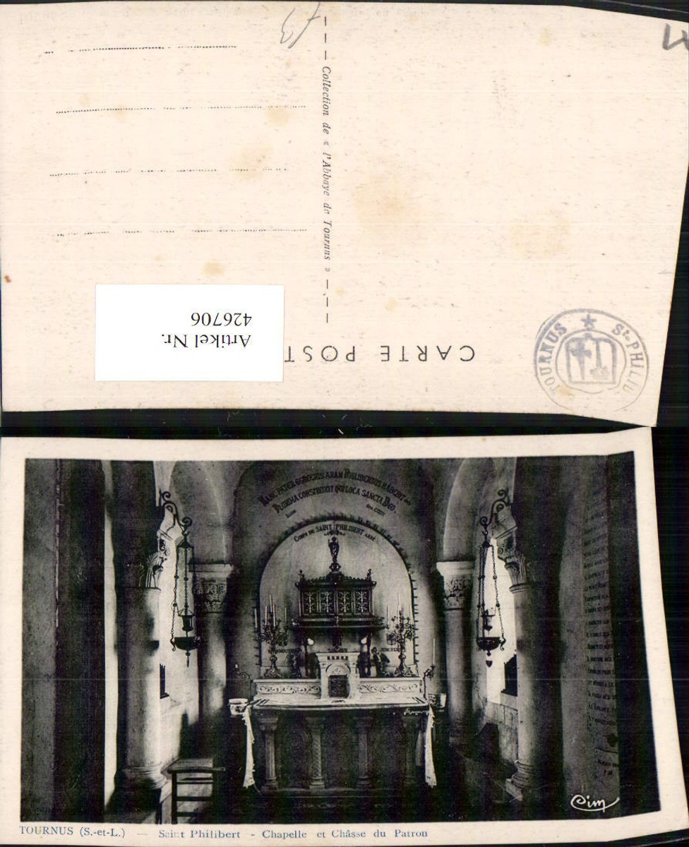 426706,Burgund Saone-et-Loire Tournus Saint Philibert Chapelle Kapelle Altar günstig online kaufen