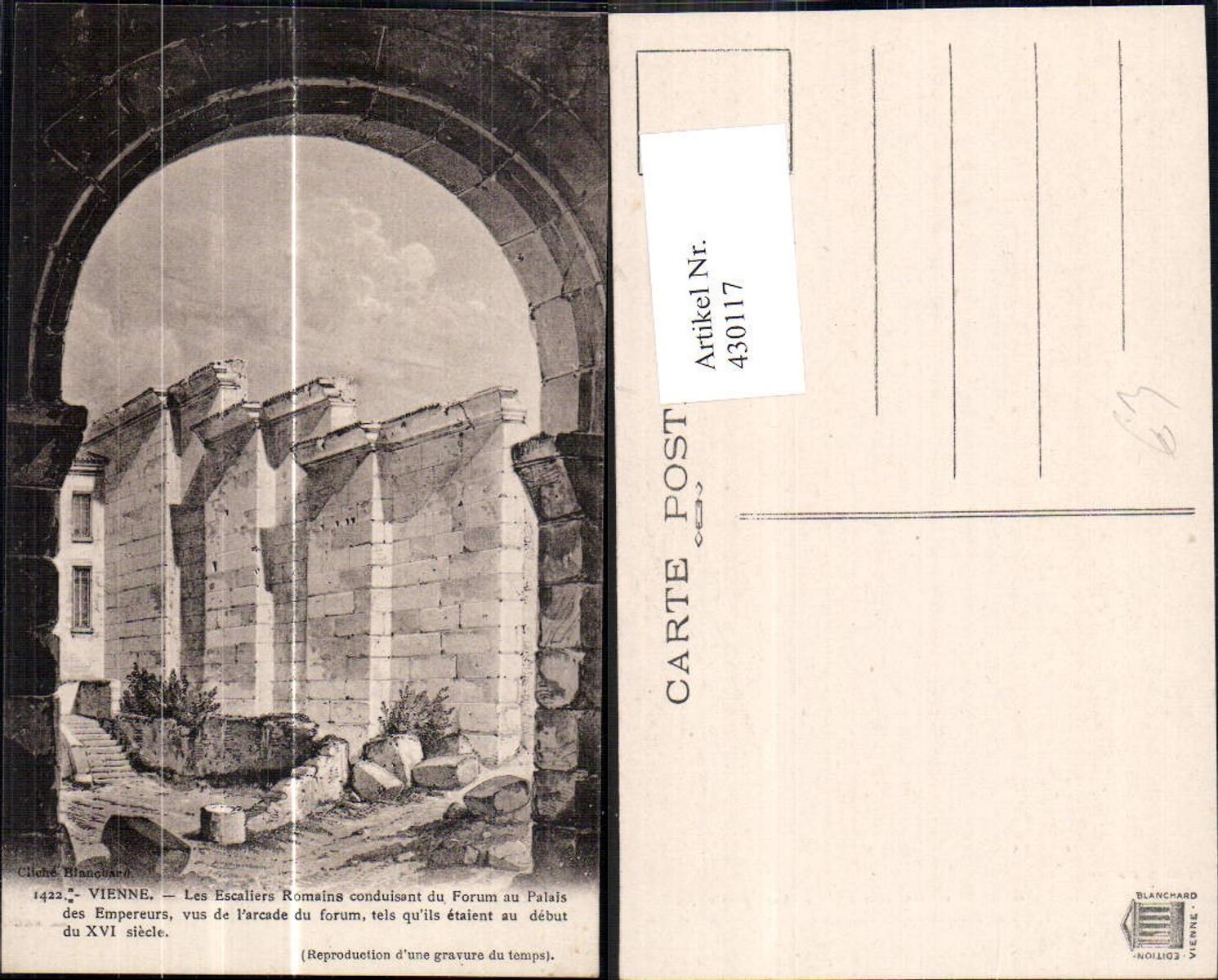 430117,Archäologie Vienne Les Escaliers Romains Forum au Palais des Empereurs Arkade günstig online kaufen