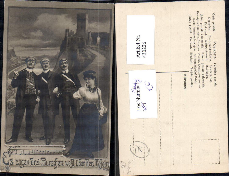 430226,Studentika Studenten Frau Es zogen drei Burschen wohl über den Rhein pub NPG 417/10 günstig online kaufen