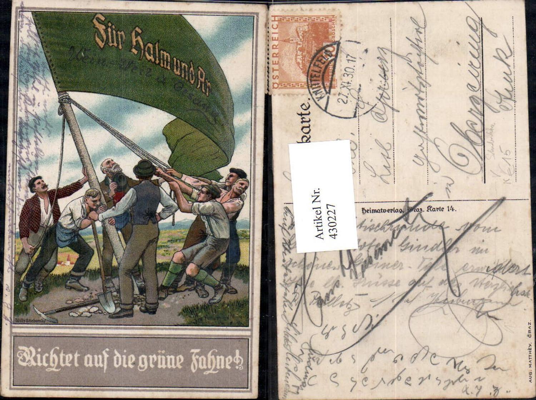 430227,Künstler Ak Willy Stieborsky Richtet auf d. grüne Fahne Studentika pub Aug. Matthey Graz günstig online kaufen
