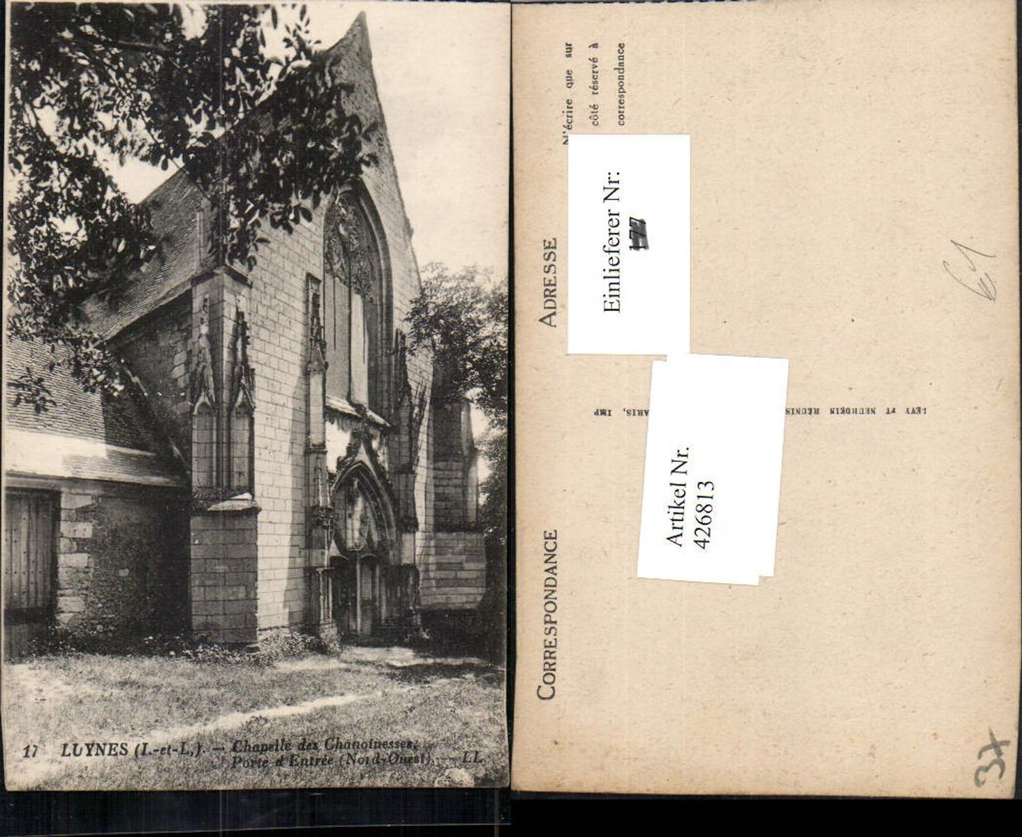 426813,Centre Indre-et-Loire Luynes Chapelle des Chanoinesses Kapelle günstig online kaufen