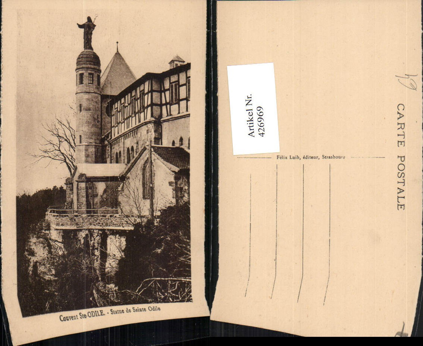 426969,Elsass Bas-Rhin Kloster Couvent Ste-Odile Statue de Sainte Odile günstig online kaufen