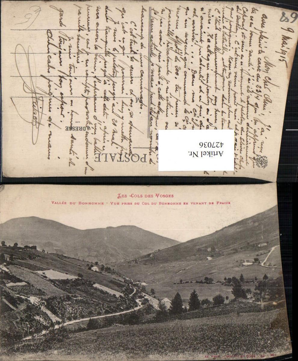 427036,Elsass Haut-Rhin Vallee du Bonhomme vue prise du Col du Bonhomme Landschaft günstig online kaufen