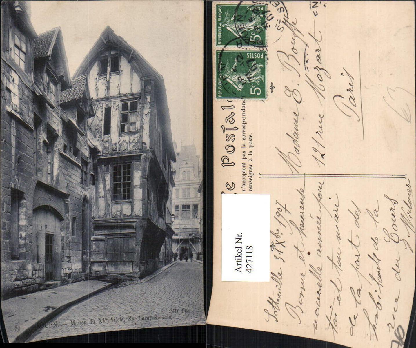 427118,Haute-Normandie Seine-Maritime Rouen Rue Saint-Romain Maison Haus günstig online kaufen