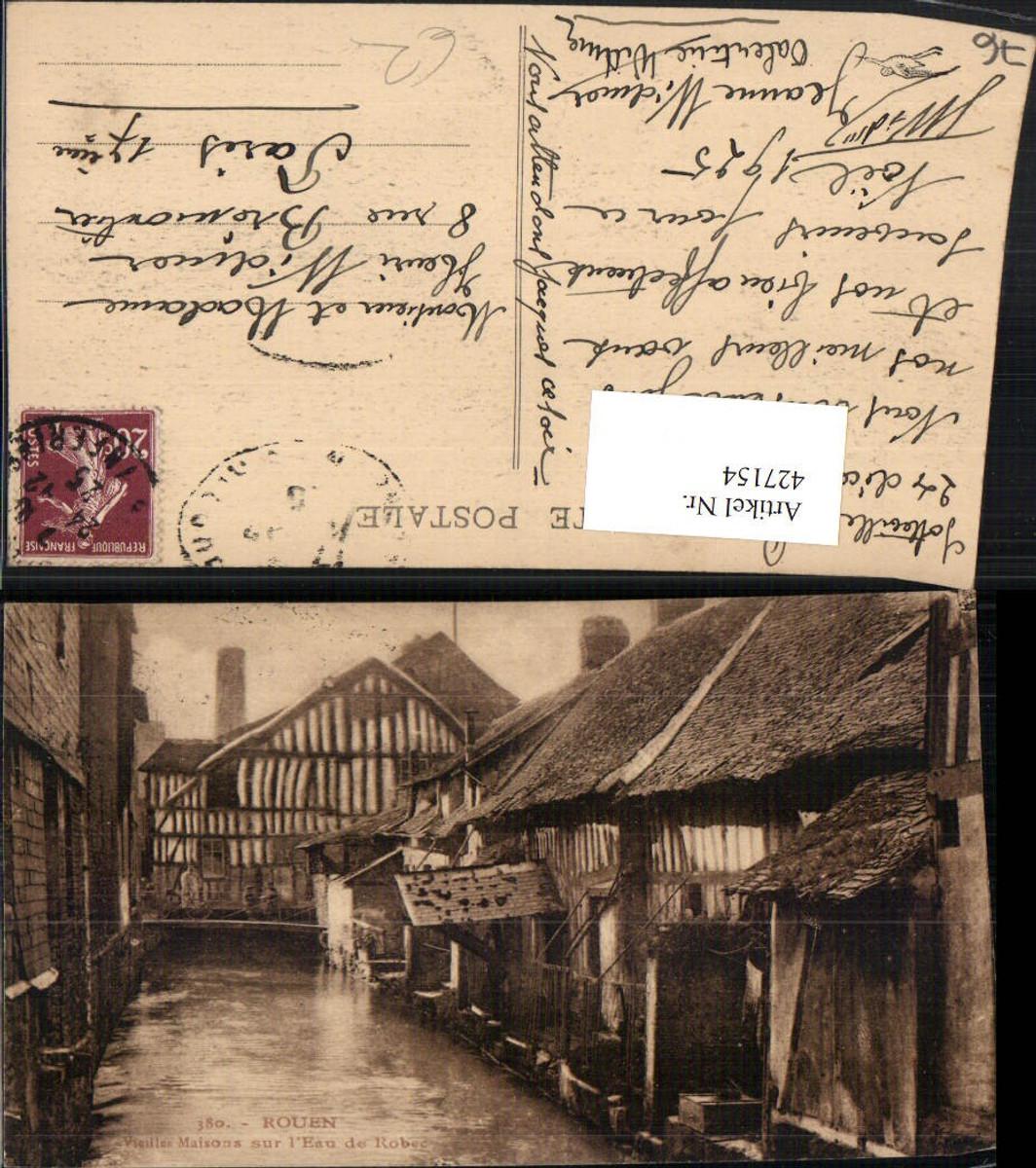 427154,Haute-Normandie Seine-Maritime Rouen Vieilles Maisons sur l'Eau de Robec Kanal günstig online kaufen