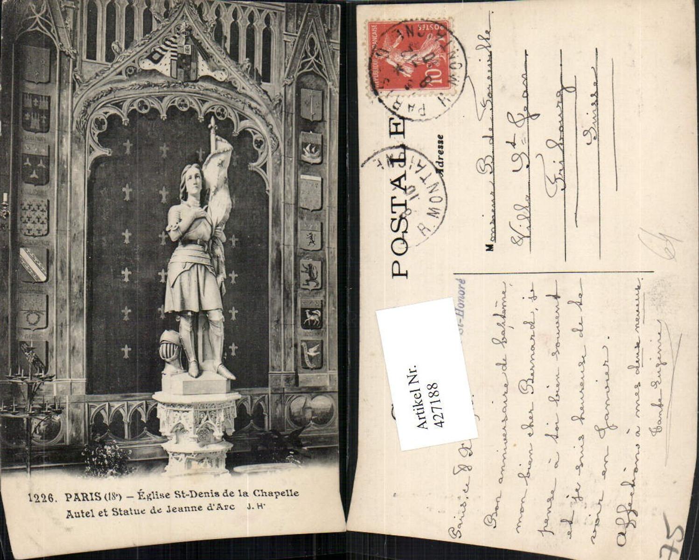 427188,Ile-de-France Paris Eglise St-Denis de la Chapelle Autel et Statue Jeanne d'Arc günstig online kaufen