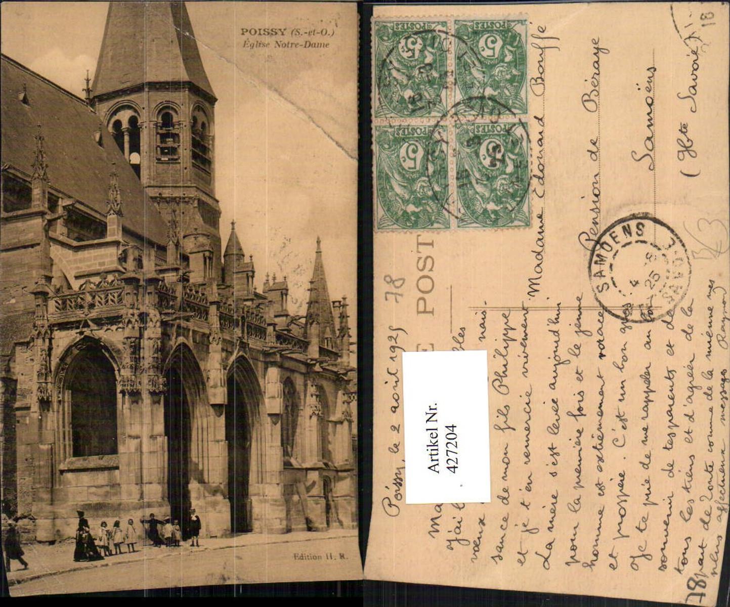 427204,Ile-de-France Yvelines Poissy Eglise Notre-Dame Kirche günstig online kaufen