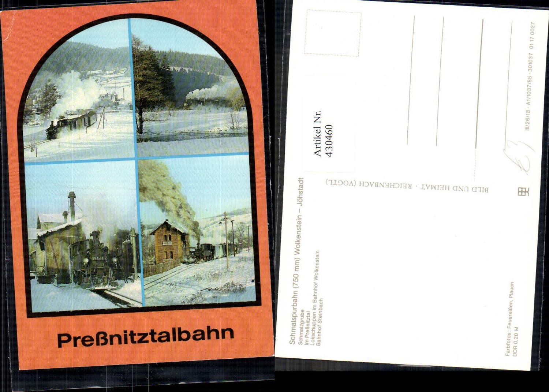430460,Mehrbild Ak Preßnitztalbahn Schmalzgrube Wolkenstein Steinbach Eisenbahnlinie Lokomotive günstig online kaufen