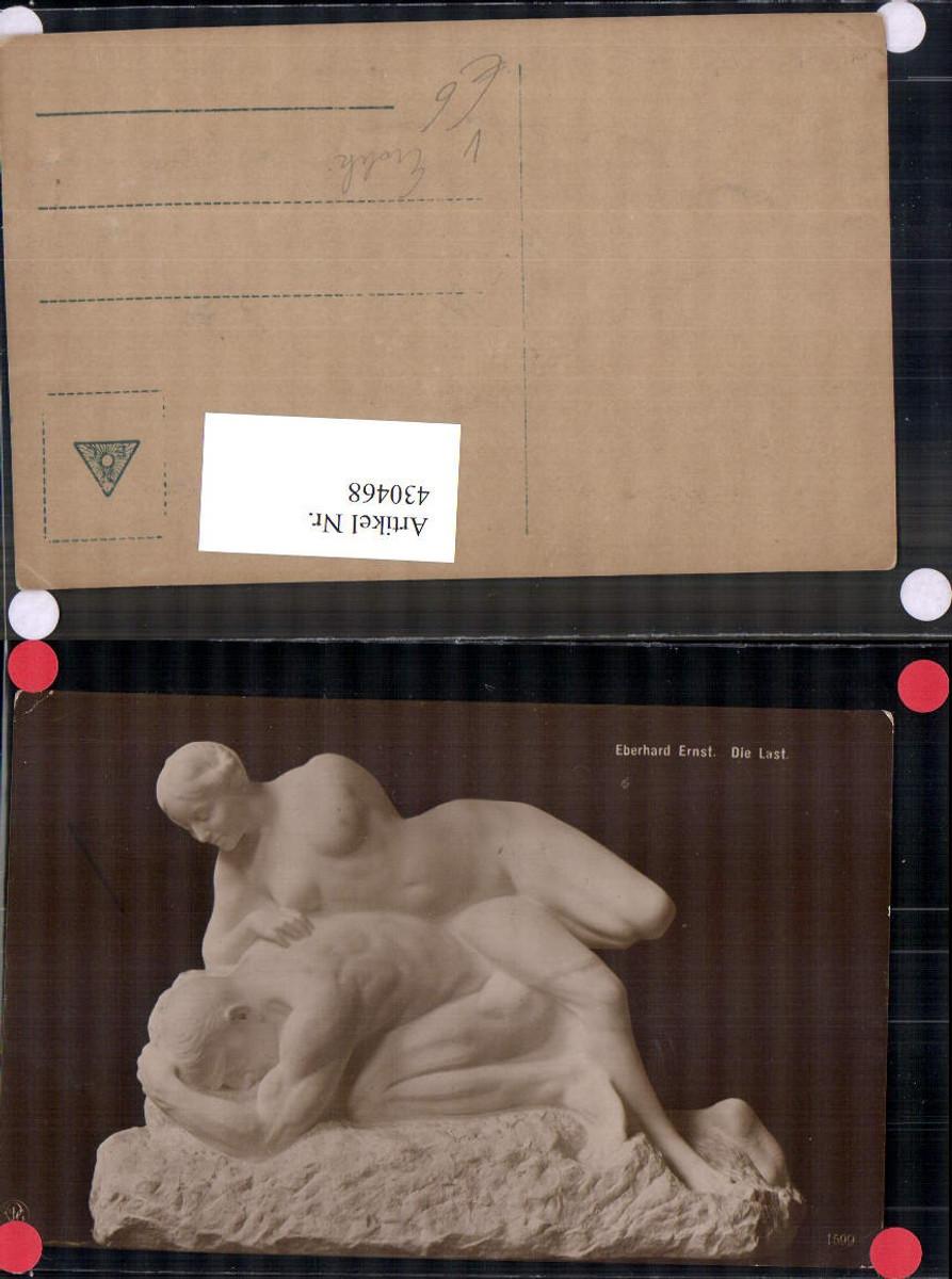 430468,Erotik Eberhard Ernst Die Last Statue Nacktes Paar pub NPG 1599 günstig online kaufen