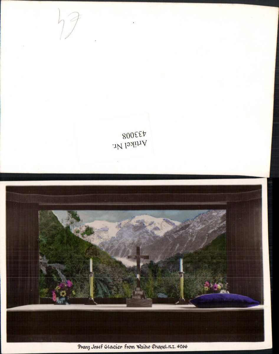 433008,New Zealand Neuseeland Franz Josef Glacier from Waiho Chapel Kapelle Bergkulisse günstig online kaufen