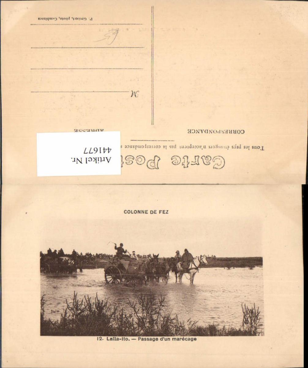 441677,Morocco Fez Lalla-Ito Passage d'un marecage Überquerung Kutsche Pferde günstig online kaufen