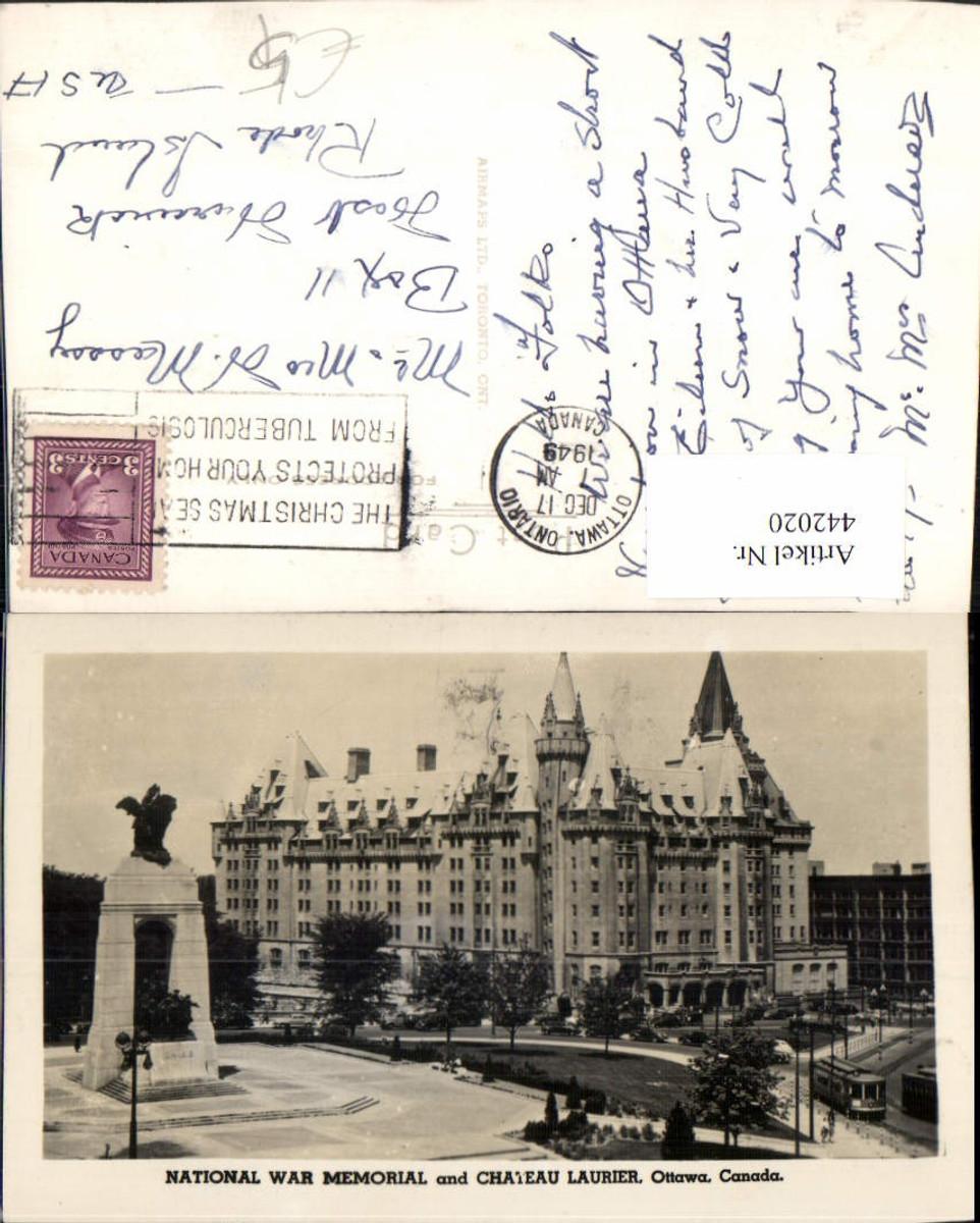 442020,Ontario Ottawa National War Memorial and Chateau Laurier Schloss günstig online kaufen