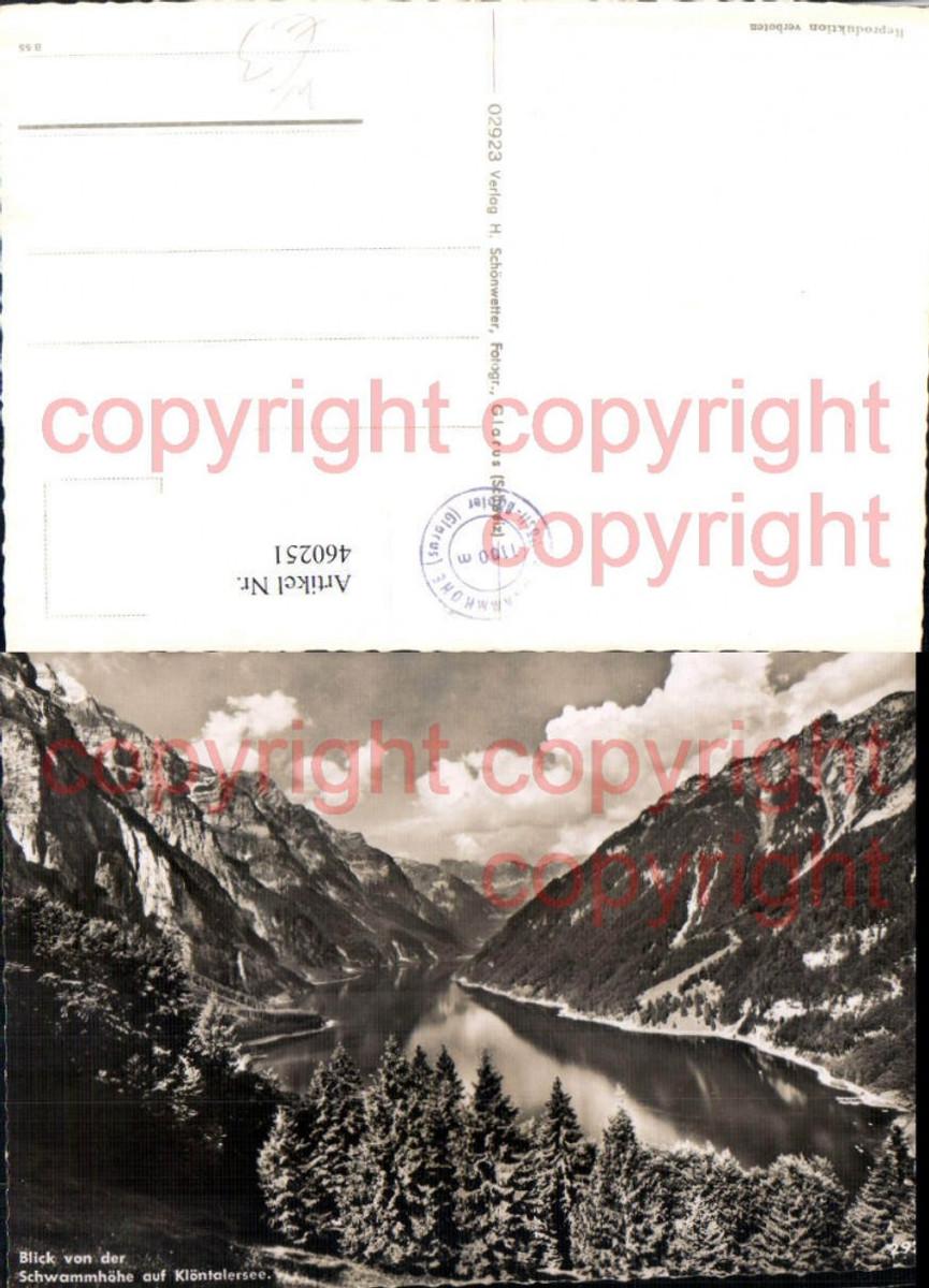 460251,Blick von d. Schwammhöhe auf Klöntalersee Bergkulisse Kt Glarus günstig online kaufen
