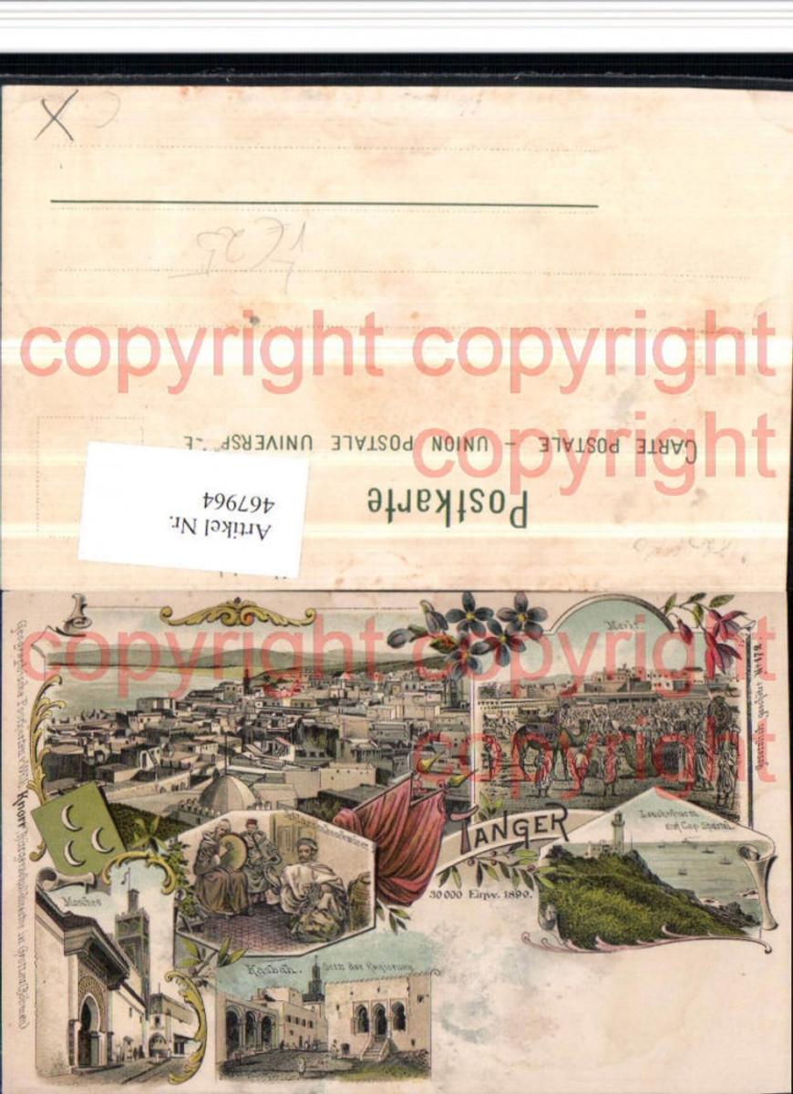 467964,Litho Morocco Tanger Totale Leuchtturm Mehrbildkarte pub Wilh. Knorr 172 günstig online kaufen