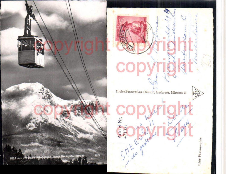 471331,Innsbruck Patscherkofelbahn Seilbahn geg. Nockspitze Bergkulisse günstig online kaufen