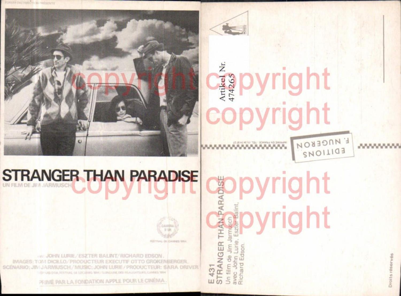 474265,Film Reklame Stranger Than Paradies Jim Jarmusch John Lurie Eszter Balint Richard Edson günstig online kaufen